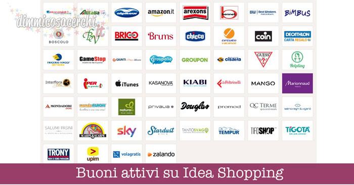 Buoni attivi su Idea Shopping