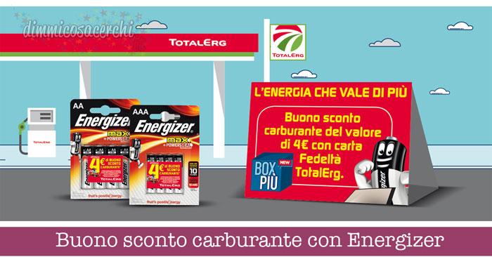 Buono sconto carburante con Energizer