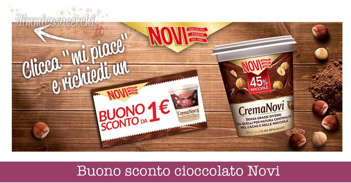 Buono sconto cioccolato Novi