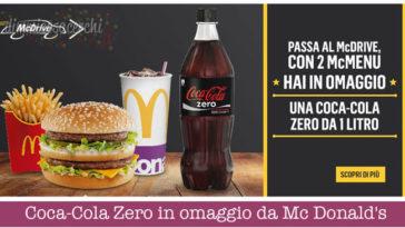 Coca-Cola Zero in omaggio