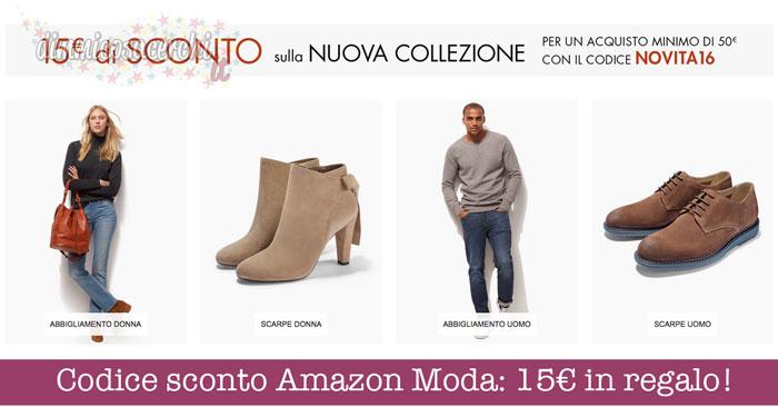 Codice sconto Amazon Moda