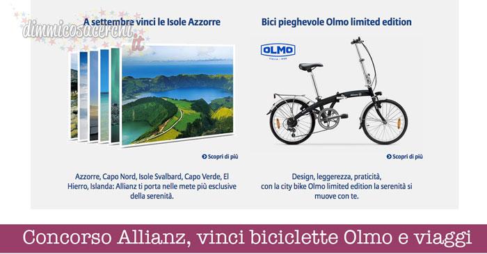 Concorso Allianz, vinci biciclette Olmo e viaggi
