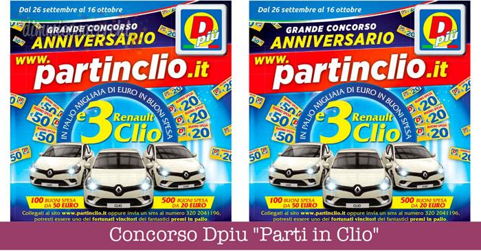 """Concorso Dpiu """"Parti in Clio"""""""