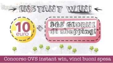Concorso OVS instant win, vinci buoni spesa