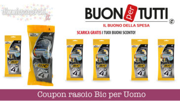Coupon rasoio Bic