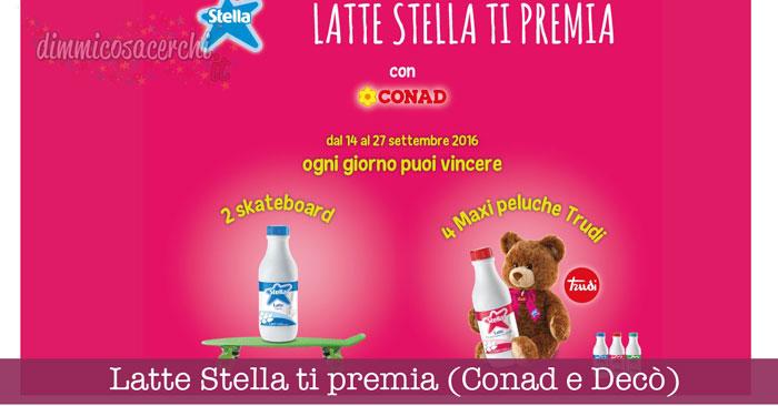 Latte Stella ti premia (Conad e Decò): vinci skate e peluche