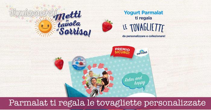 Parmalat ti regala le tovagliette personalizzate