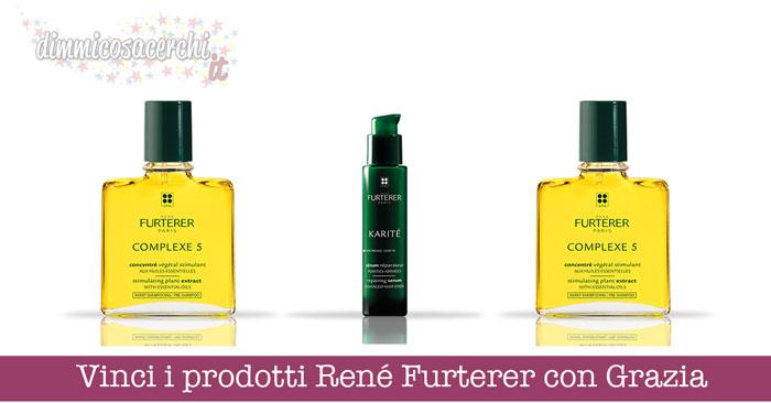 Vinci i prodotti René Furterer con Grazia