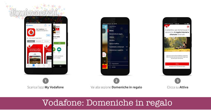 Vodafone: Domeniche in regalo (internet e chiamate gratis)