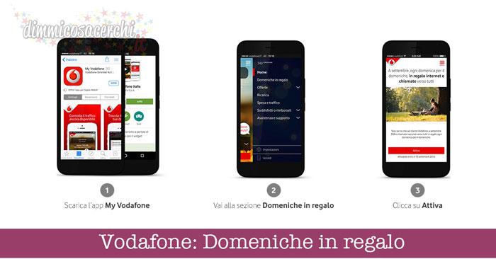 Vodafone: Domeniche in regalo (internet e chiamate gratis)