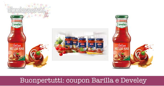 Buonpertutti: coupon Barilla e Develey