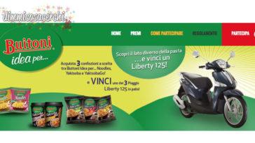 Vinci uno scooter Liberty con Noodles Buitoni