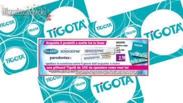Carta regalo Tigotà acquistando Sensodyne