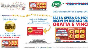 Gratta e Vinci super settimana in regalo da Pam Panorama