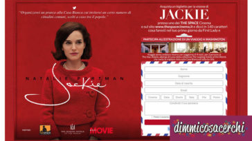 "Concorso ""Jackie il film"": vinci viaggio a Washington"
