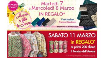 Festa della donna Acqua e Sapone: in regalo foulard Brandani