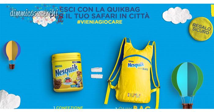 Nesquik regala la Quikbag