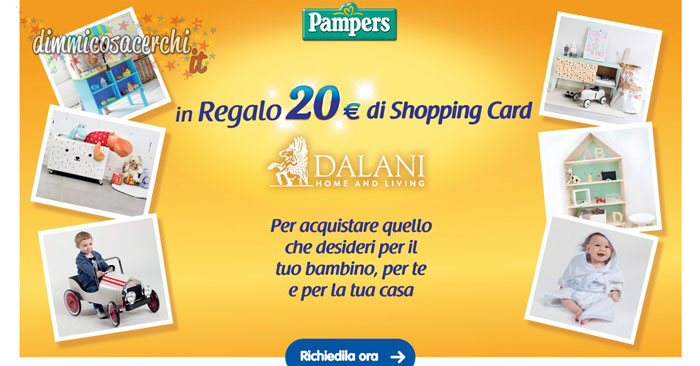 Pampers regala la shopping card Dalani