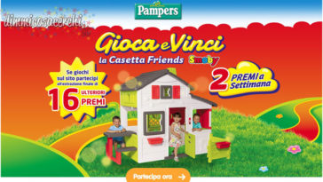Vinci la casetta Friends Smoby con Pampers