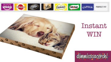 "Vinci un cuscino personalizzato con ""Pet lover days"""