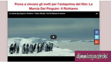 vinci i biglietti del film La Marcia Dei Pinguini