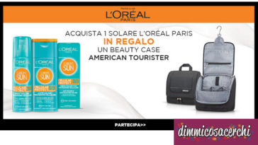 Beauty Case in regalo con i solari L'Oreal Paris