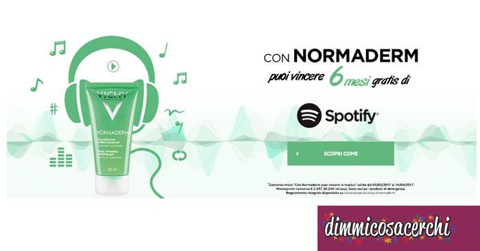 Concorso Normaderm: vinci abbonamenti Spotify