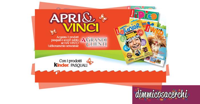 Concorso prodotti Kinder Pasquali