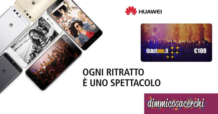 Euronics: Huawei P10 ti regala voucher ticketOne da 100€