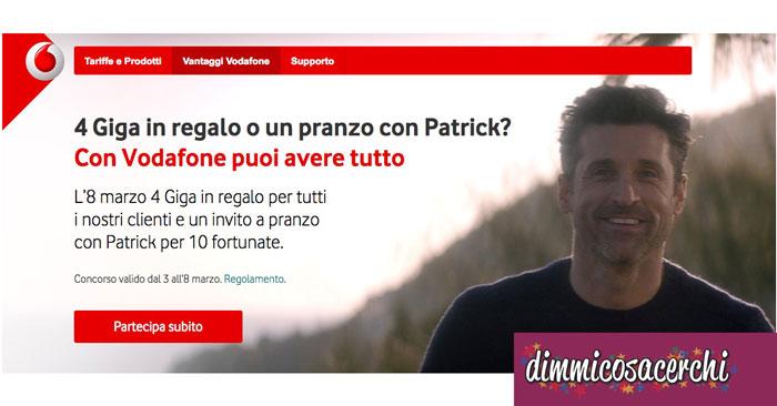 Concorso Vodafone Festa Della Donna Vinci Un Pranzo Con Patrick