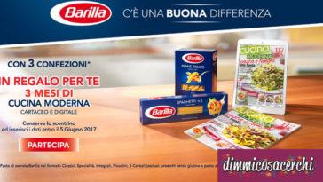 Abbonamento Cucina Moderna omaggio con Barilla