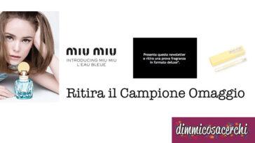 Campione omaggio profumo Eau de Parfum Miu Miu L'Eau Bleue