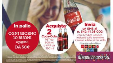 Coca-Cola e Autogrill: vinci 10 buoni Amazon da 50€
