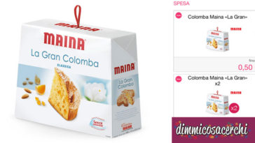 Coupon colomba Maina