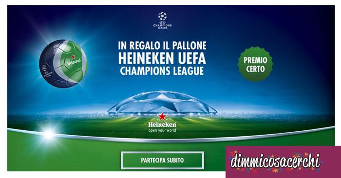 Richiedi il pallone Heineken come premio certo