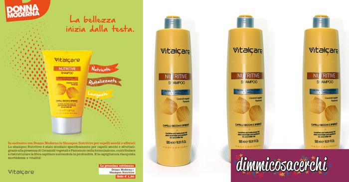 Shampoo Vitalcare in edicola con Donna Moderna