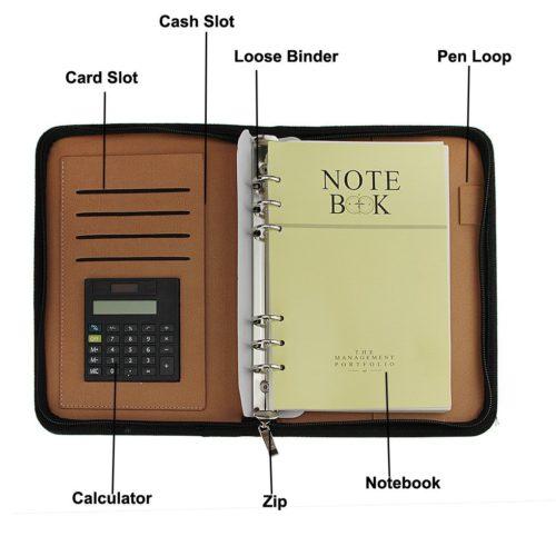 Porta coupon organizer con calcolatrice