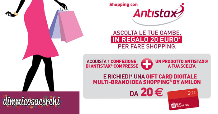 Antistax ti premia con un buono Idea Shopping