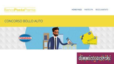 Concorso bollo auto: banco posta ti premia