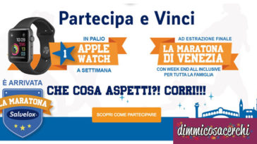 Concorso cerotti Salvelox: vinci Apple Watch
