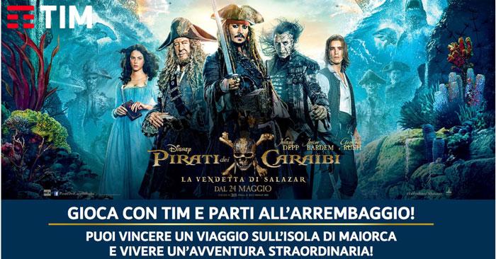 Tim Cinema: vinci con i Pirati dei Caraibi