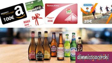 Vinci con birra Peroni: in palio buoni Amazon da 100€ + premio sicuro