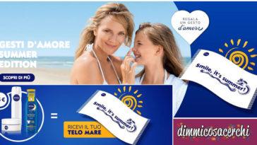 """Nivea ti regala il telo mare: """"Gesti d'amore summer edition"""""""