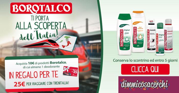 Borotalco ti regala buoni viaggio Trenitalia (premio certo)