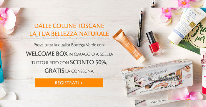 Bottega Verde: nuova welcome box EDIZIONE LIMITATA