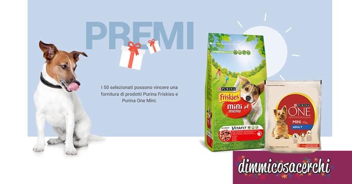 Purina Mini Dog Club: vinci forniture Friskies e Purina One
