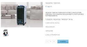Mediatec Twister climatizzatore portatile scontato dell'88%!