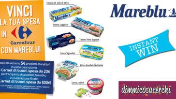 Vinci la spesa in Carrefour con Mareblu