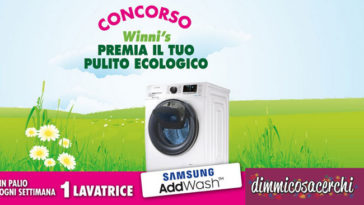 Concorso Winni's: vinci lavatrici Samsun AddWash