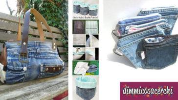 idee per riciclare un vecchio paio di jeans